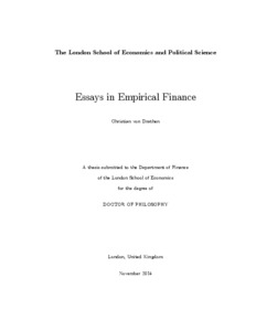 essays in empirical finance lse theses online