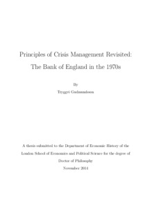 Phd thesis in crisis management