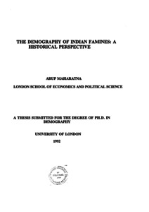 Demography phd thesis