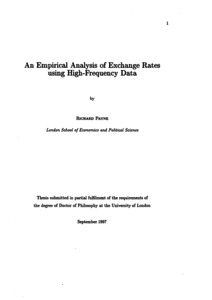 Phd thesis on exchange rate