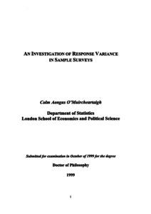 an investigation of response variance in sample surveys lse