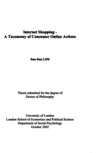 Phd thesis on online shopping