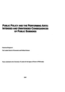 Public policy thesis