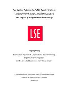 Dissertation pay performance