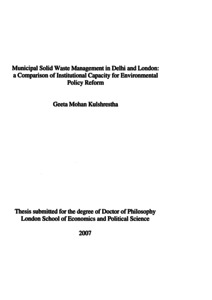 Phd thesis on solid waste management