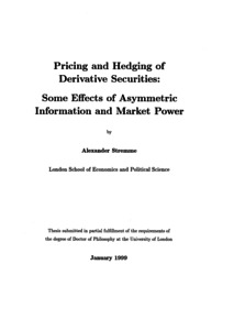 Phd thesis on financial markets