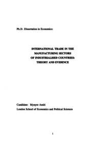 Phd thesis on international trade