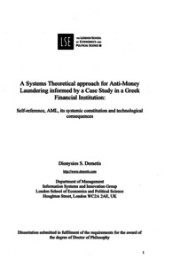 Dissertation anti money laundering