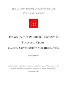 essays on the political economy of financial crises causes
