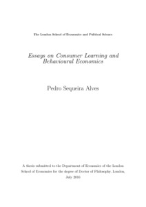 essays on consumer learning and behavioural economics lse theses identification