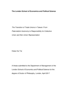 The transition of trade unions in Taiwan: from paternalistic