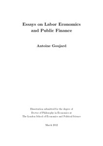 phd thesis on labour welfare measures Fella, giulio (2000) noncompetitive labour markets, severance payments and unemployment phd thesis, london school of economics and.