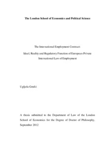 The international employment contract: ideal, reality and ...