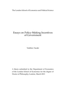 essays on policy making incentives of government lse theses online abstract
