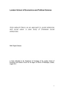 CSE 268D: Actor-Network Theory; Case Studies and Applications