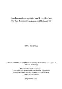 audience studies takahashi toshie
