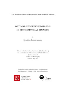 Quantitative finance phd thesis