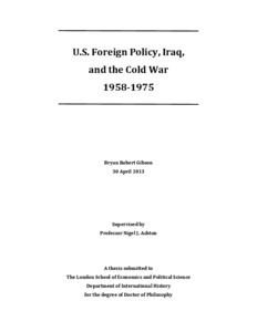 iraq in the cold war