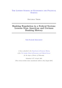 dissertation on banking regulation Titel: five essays on bank regulation: autor: markus behn: publikationsform: dissertation: abstract: the story of the financial crisis of 2007-08 is also a story of.