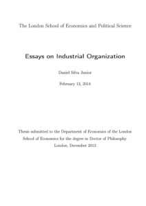essays on industrial organization lse theses online